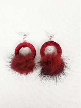 Σκουλαρίκια κρίκοι κόκκινα