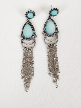 Σκουλαρίκια με γαλάζιες πέτρες