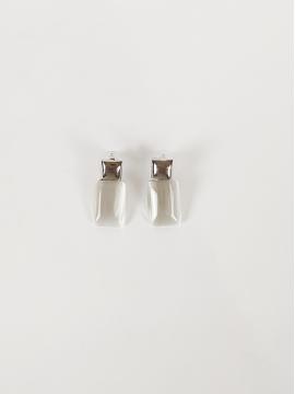 Σκουλαρίκια με λεύκη πέτρα