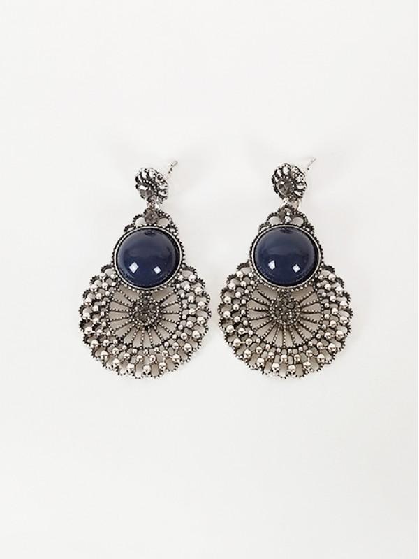 Σκουλαρίκια με μπλε πέτρα